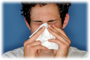 poza pacient cu gripa
